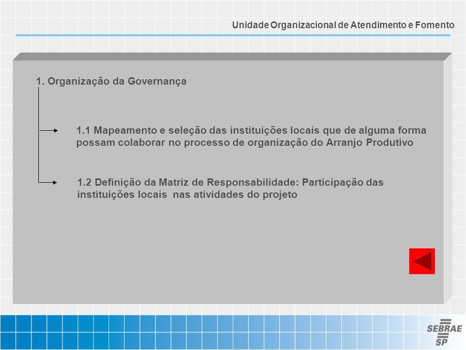 1. Organização da Governança