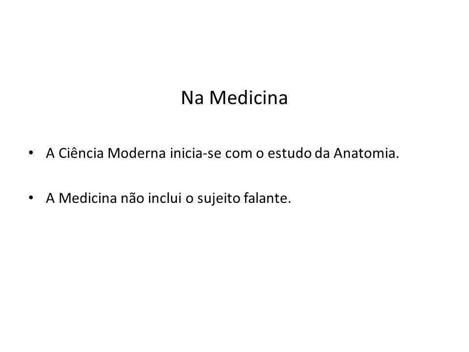 Na Medicina A Ciência Moderna inicia-se com o estudo da Anatomia.