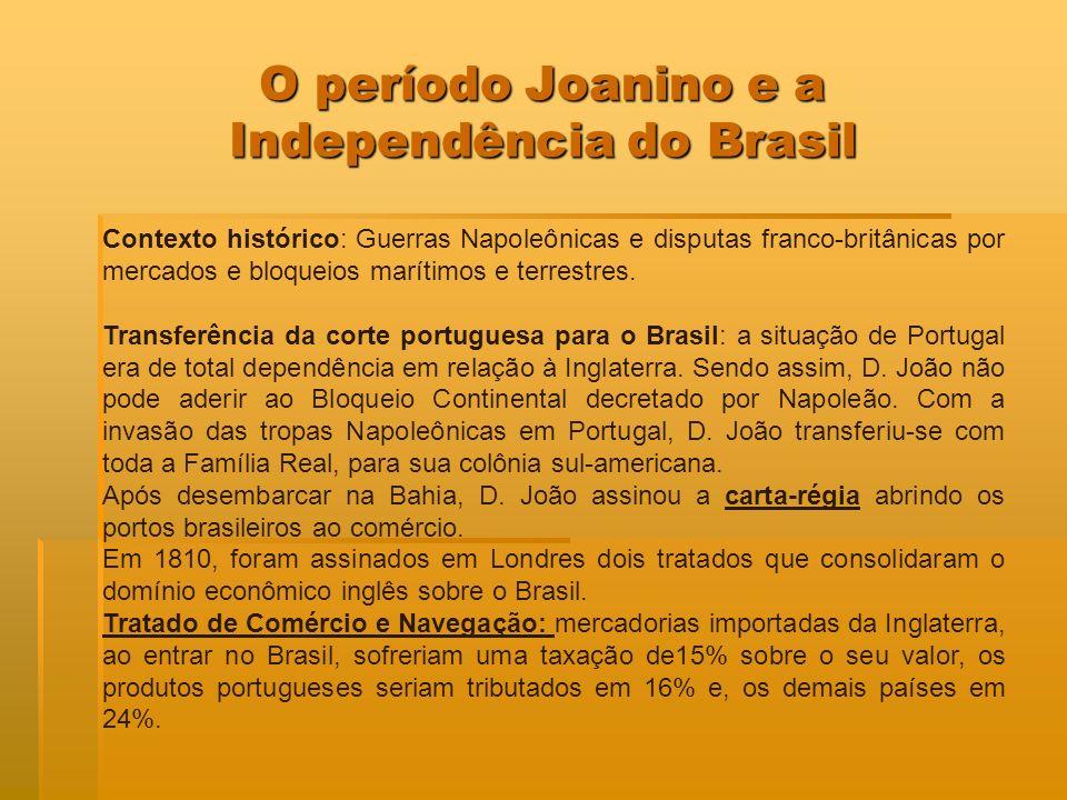 O período Joanino e a Independência do Brasil