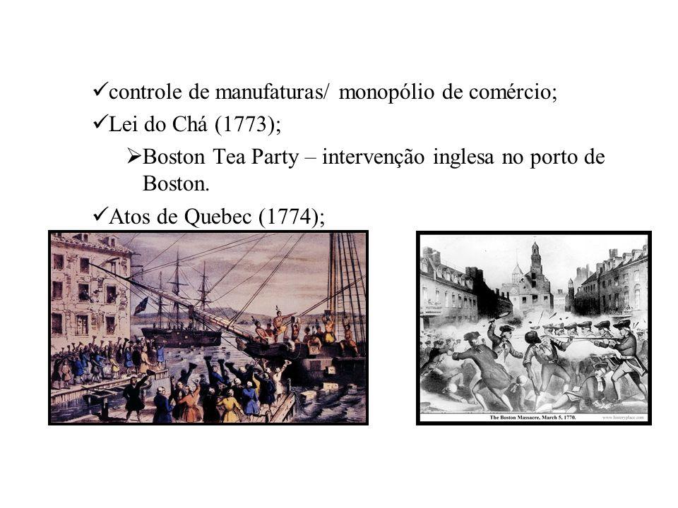controle de manufaturas/ monopólio de comércio;