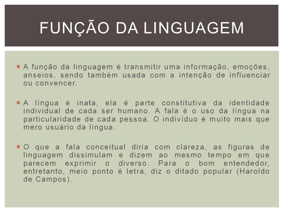 FUNÇÃO DA LINGUAGEM