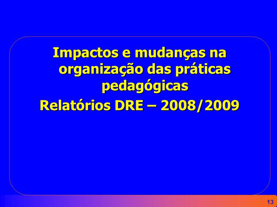 Impactos e mudanças na organização das práticas pedagógicas