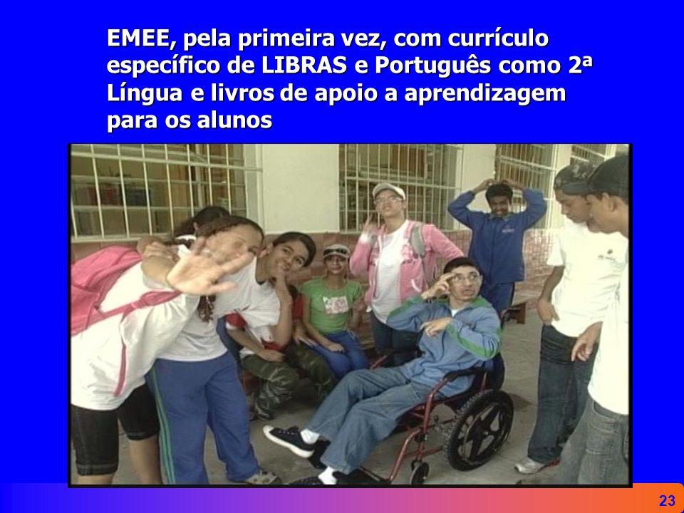 EMEE, pela primeira vez, com currículo específico de LIBRAS e Português como 2ª Língua e livros de apoio a aprendizagem para os alunos