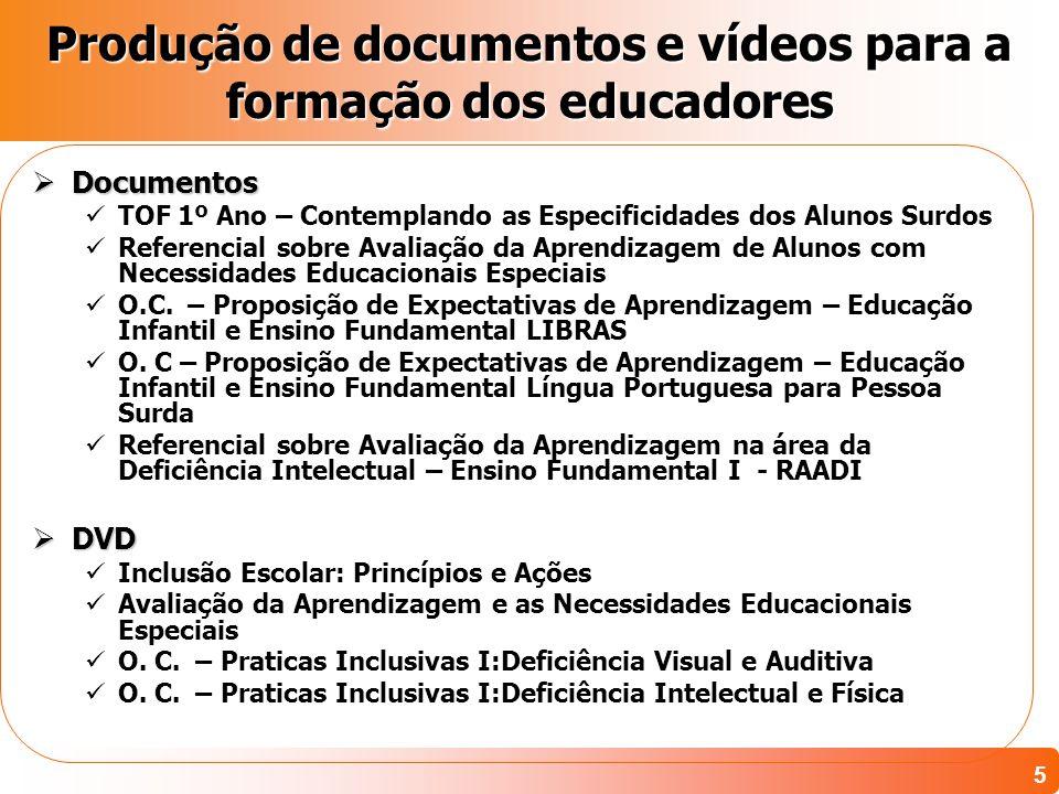 Produção de documentos e vídeos para a formação dos educadores