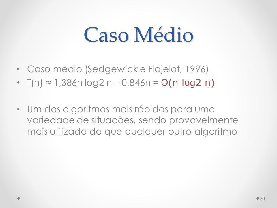 Caso Médio Caso médio (Sedgewick e Flajelot, 1996)