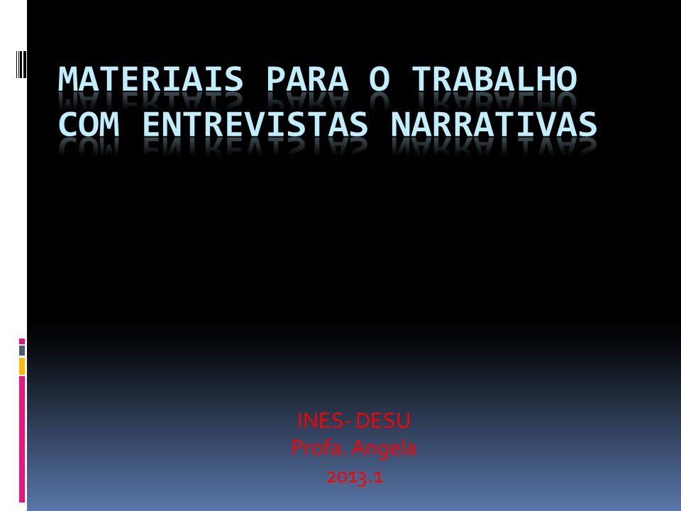 Materiais para o trabalho com entrevistas narrativas