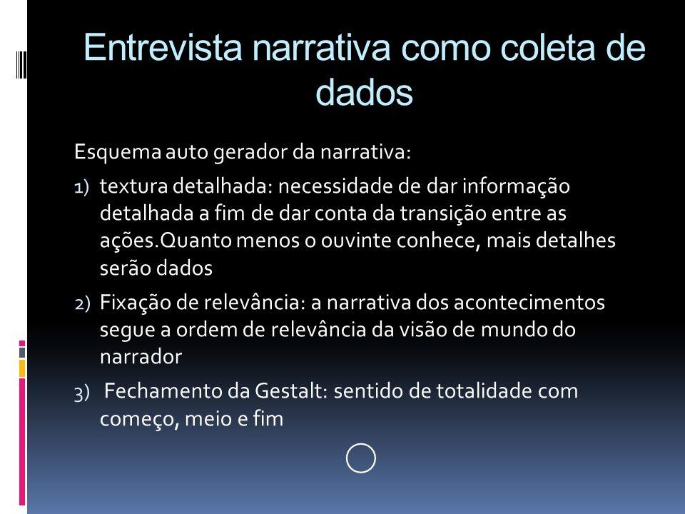 Entrevista narrativa como coleta de dados