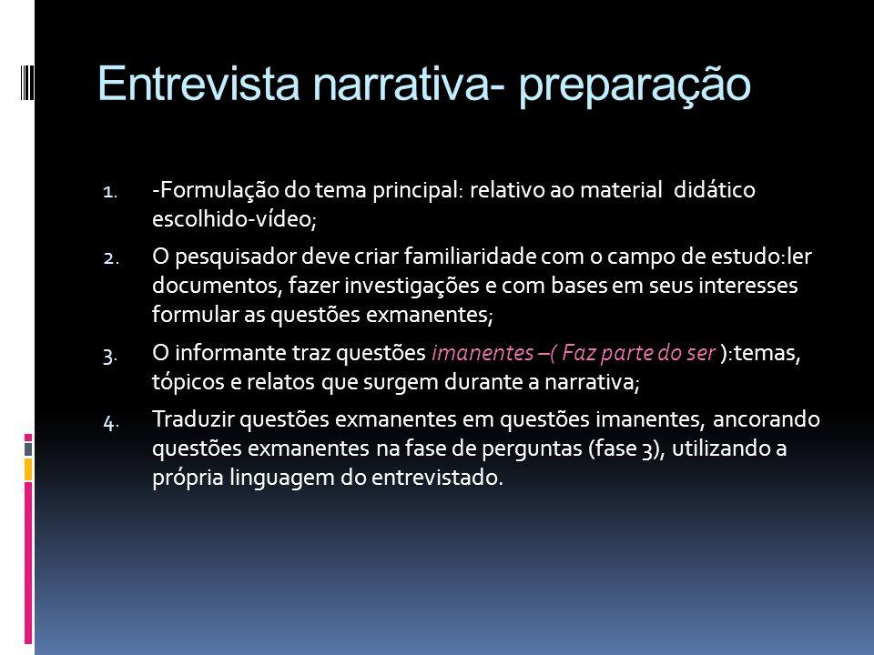 Entrevista narrativa- preparação