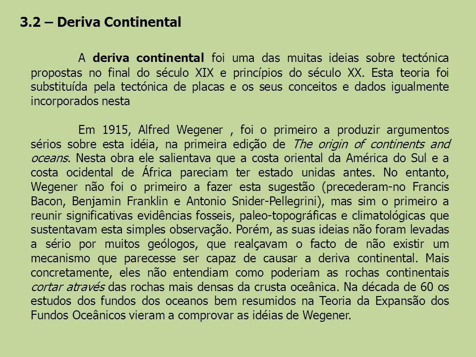 3.2 – Deriva Continental