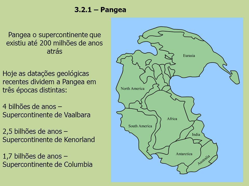 Pangea o supercontinente que existiu até 200 milhões de anos atrás