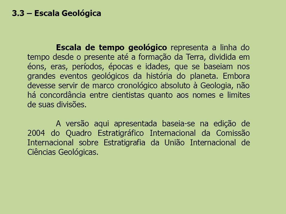 3.3 – Escala Geológica