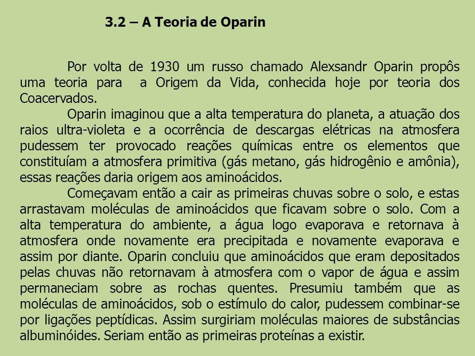 3.2 – A Teoria de Oparin