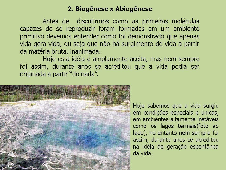 2. Biogênese x Abiogênese