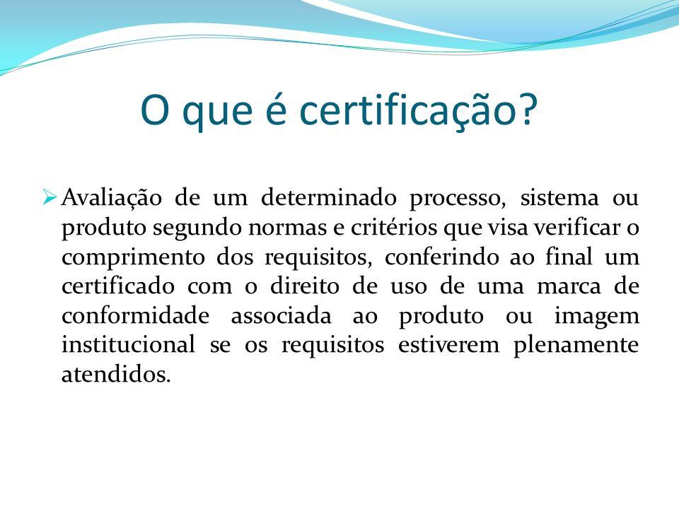 O que é certificação