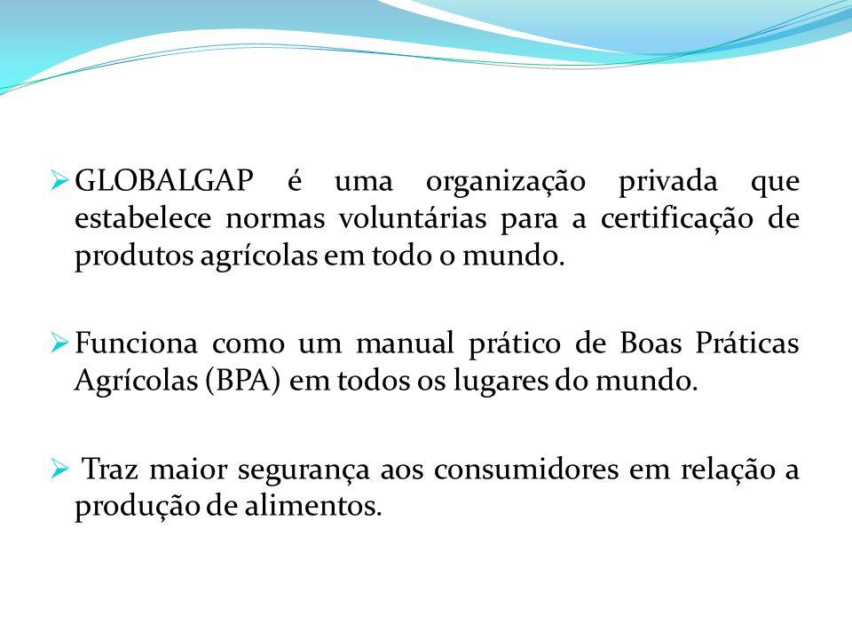GLOBALGAP é uma organização privada que estabelece normas voluntárias para a certificação de produtos agrícolas em todo o mundo.