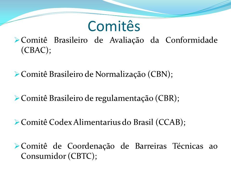 Comitês Comitê Brasileiro de Avaliação da Conformidade (CBAC);