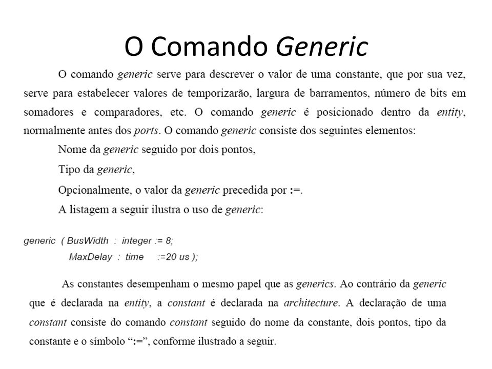 O Comando Generic