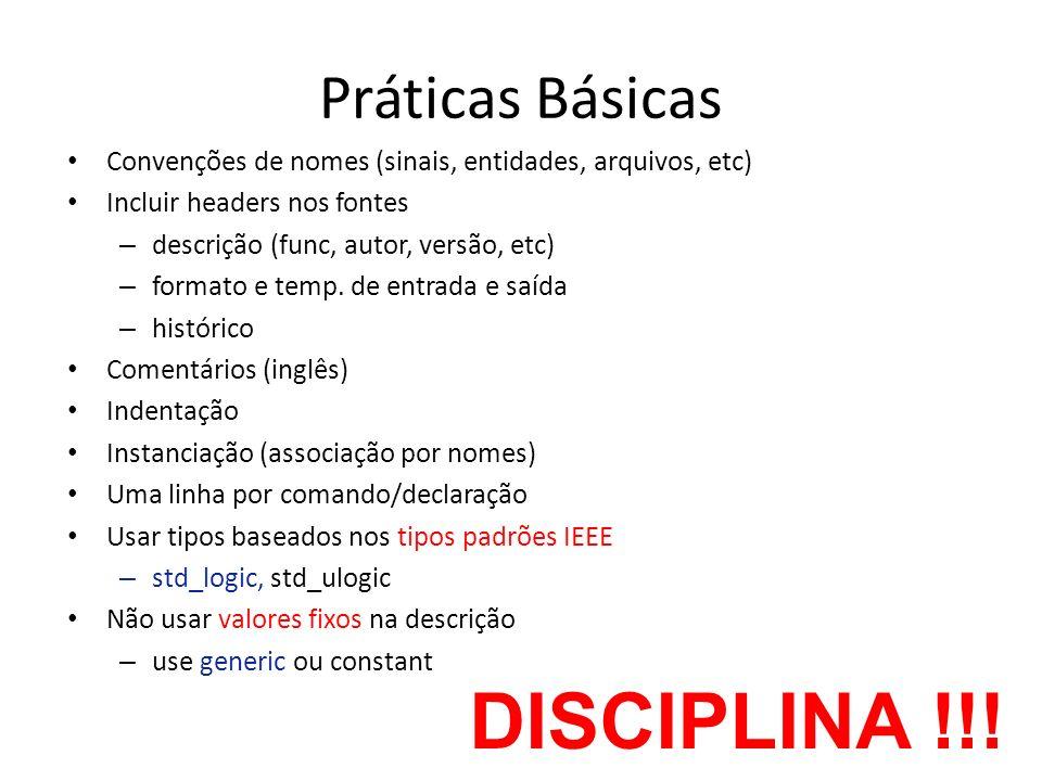 DISCIPLINA !!! Práticas Básicas