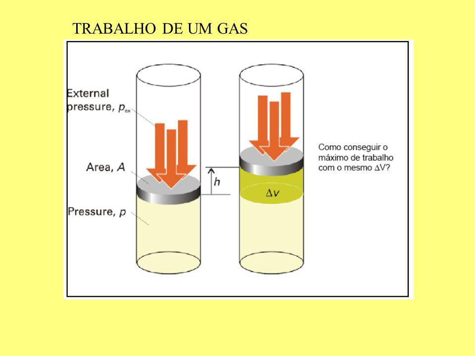 TRABALHO DE UM GAS