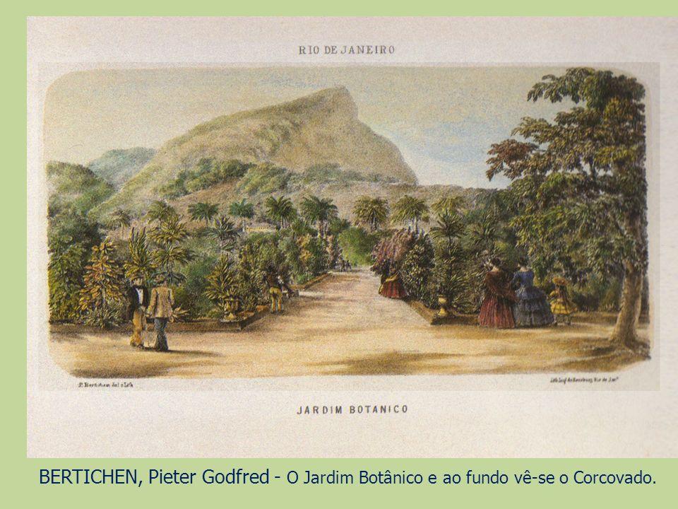 BERTICHEN, Pieter Godfred - O Jardim Botânico e ao fundo vê-se o Corcovado.