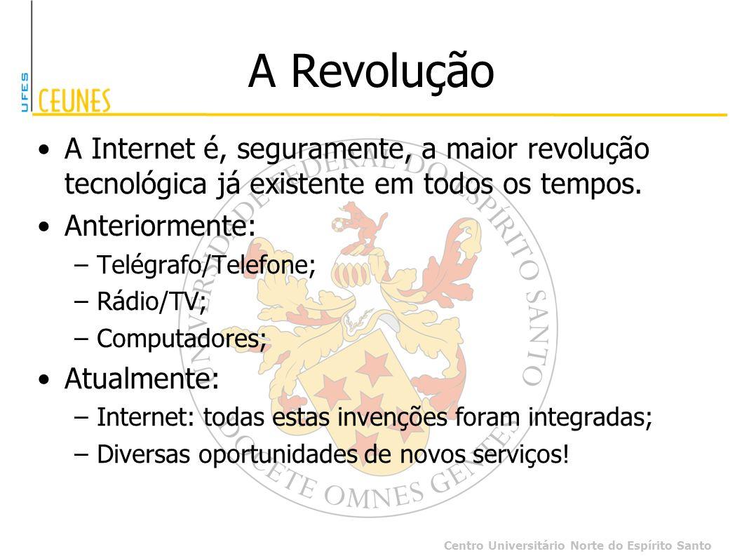 A Revolução A Internet é, seguramente, a maior revolução tecnológica já existente em todos os tempos.