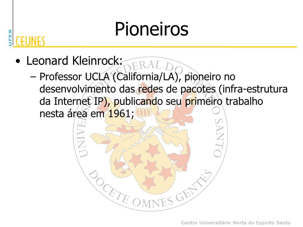 Pioneiros Leonard Kleinrock: