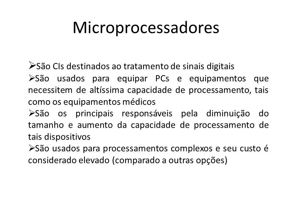 Microprocessadores São CIs destinados ao tratamento de sinais digitais