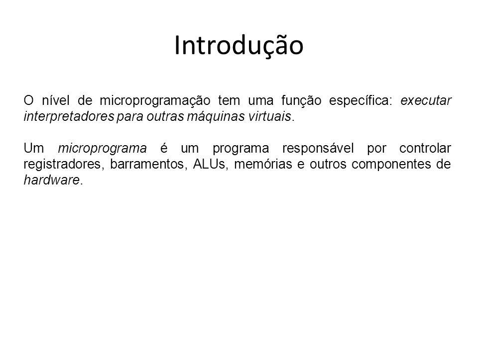 IntroduçãoO nível de microprogramação tem uma função específica: executar interpretadores para outras máquinas virtuais.