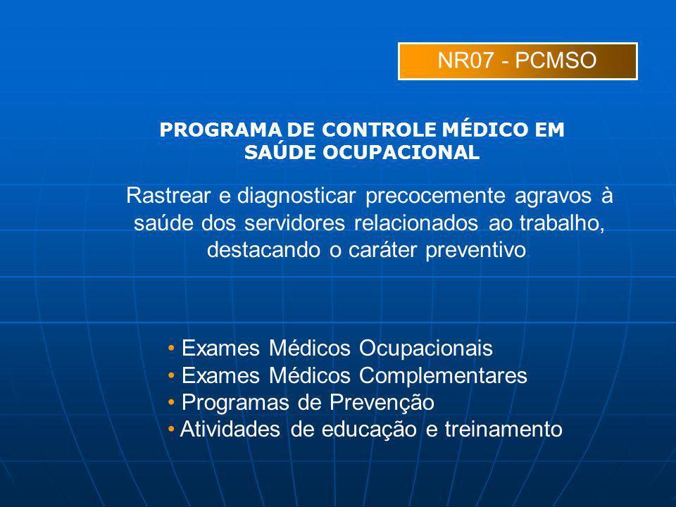 PROGRAMA DE CONTROLE MÉDICO EM SAÚDE OCUPACIONAL