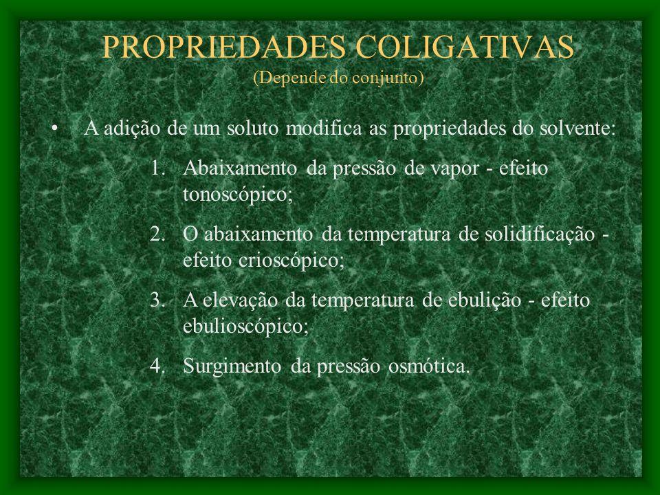 PROPRIEDADES COLIGATIVAS (Depende do conjunto)