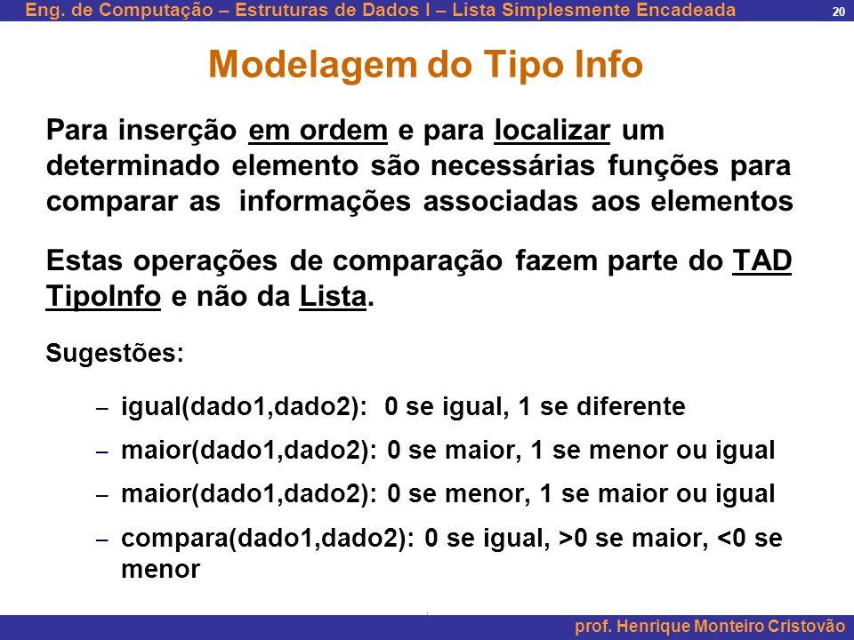 Modelagem do Tipo Info