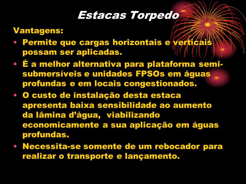 Estacas Torpedo Vantagens: