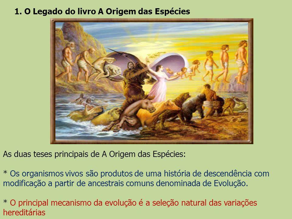 1. O Legado do livro A Origem das Espécies