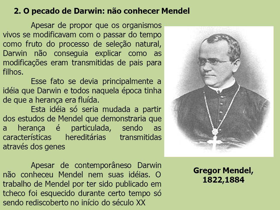 2. O pecado de Darwin: não conhecer Mendel