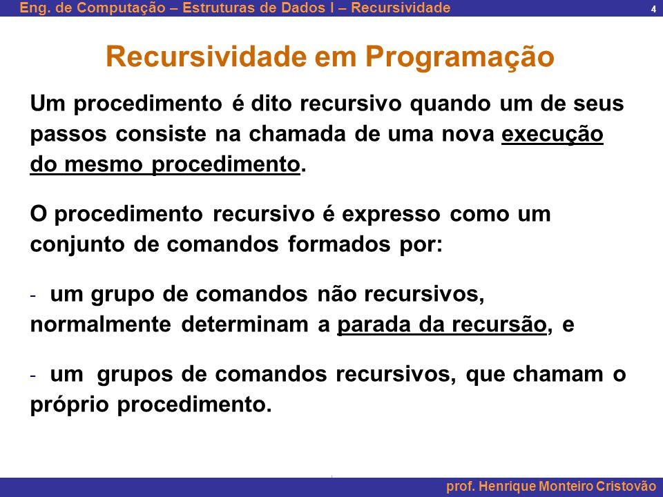 Recursividade em Programação