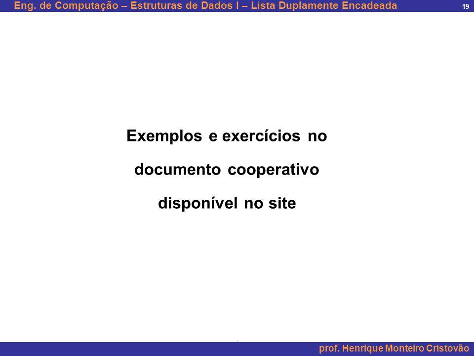 Exemplos e exercícios no documento cooperativo