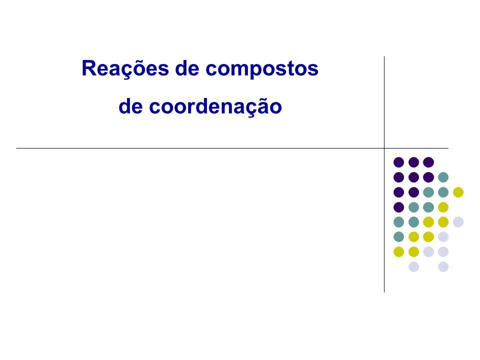Reações de compostos de coordenação