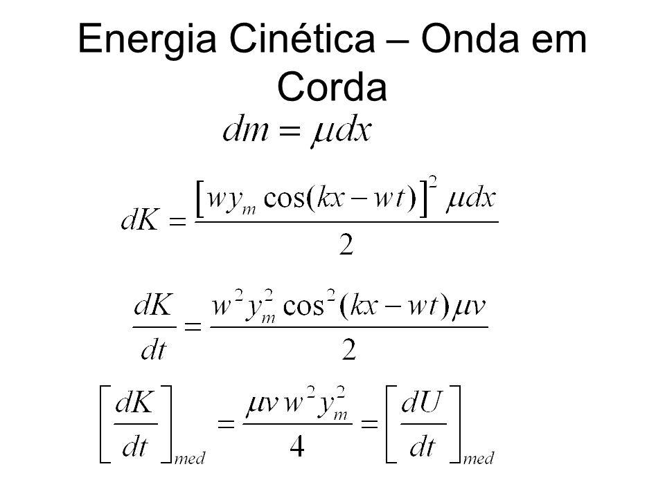 Energia Cinética – Onda em Corda