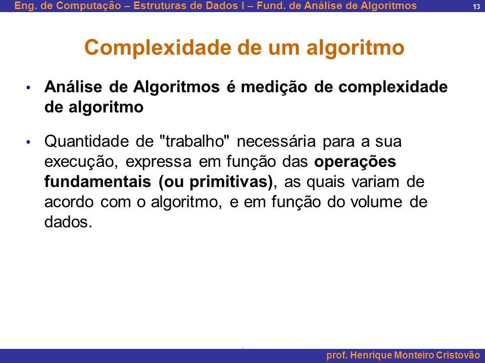 Complexidade de um algoritmo