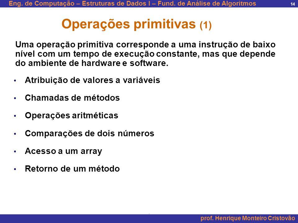 Operações primitivas (1)
