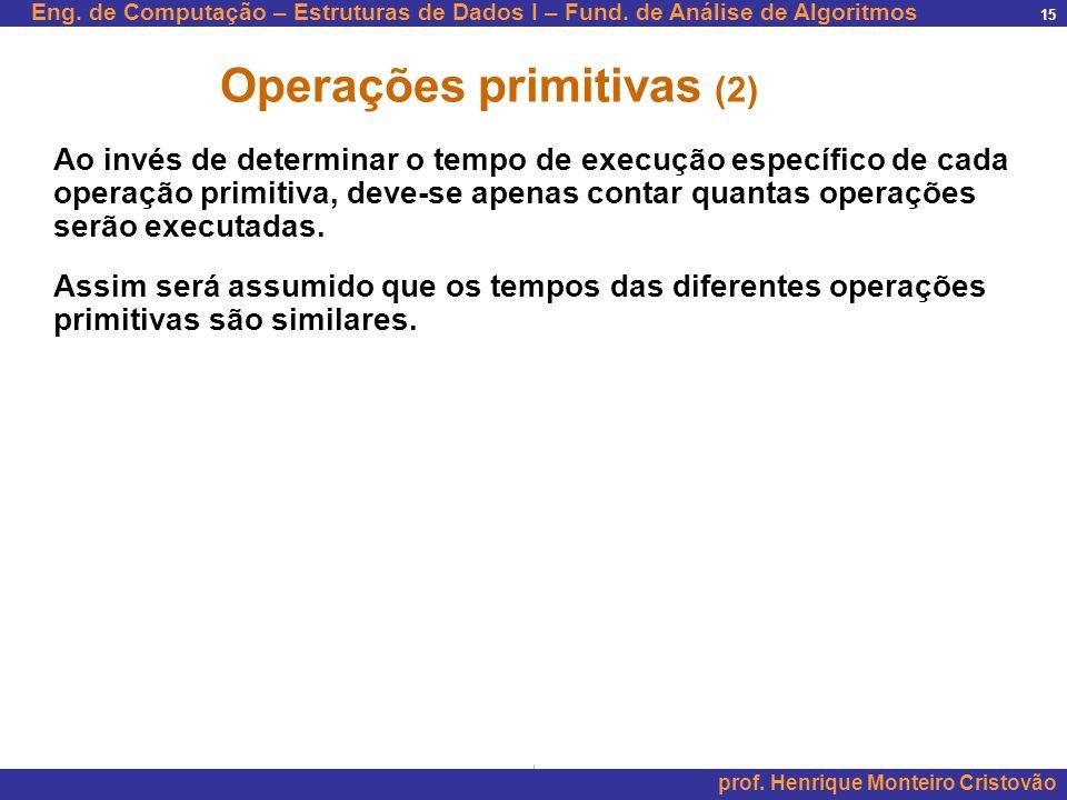 Operações primitivas (2)