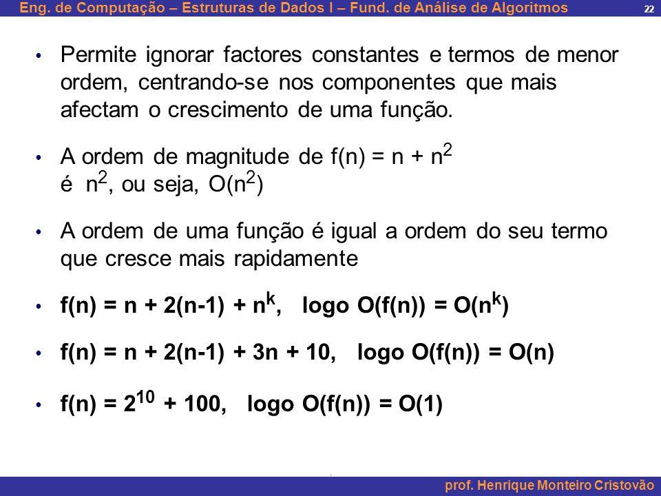 Permite ignorar factores constantes e termos de menor ordem, centrando-se nos componentes que mais afectam o crescimento de uma função.