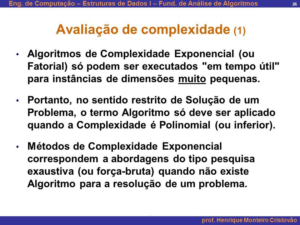 Avaliação de complexidade (1)