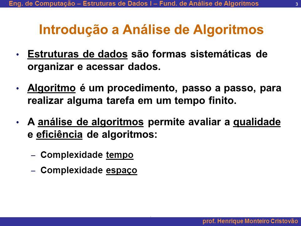 Introdução a Análise de Algoritmos