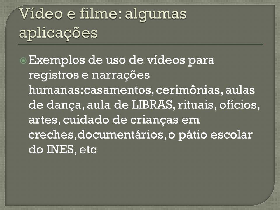 Vídeo e filme: algumas aplicações