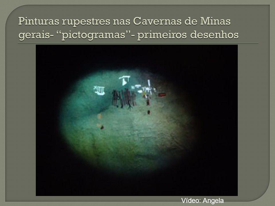 Pinturas rupestres nas Cavernas de Minas gerais- pictogramas - primeiros desenhos