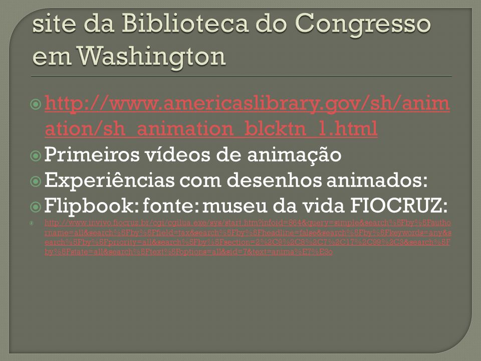 site da Biblioteca do Congresso em Washington