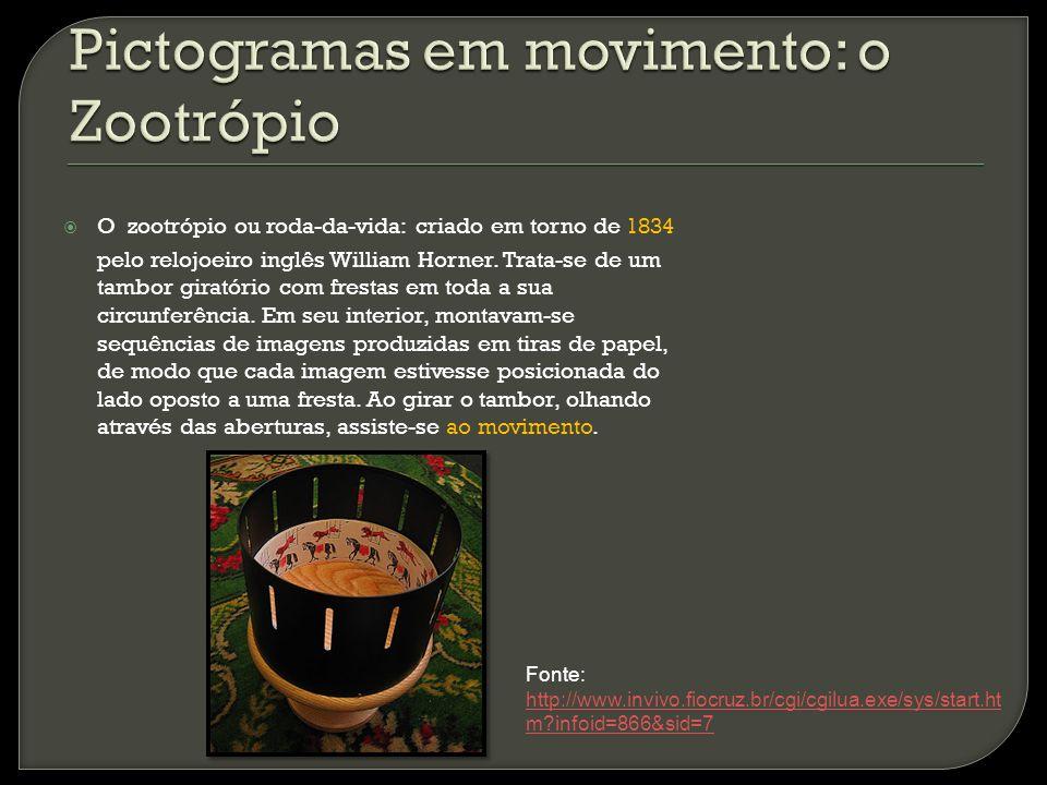 Pictogramas em movimento: o Zootrópio