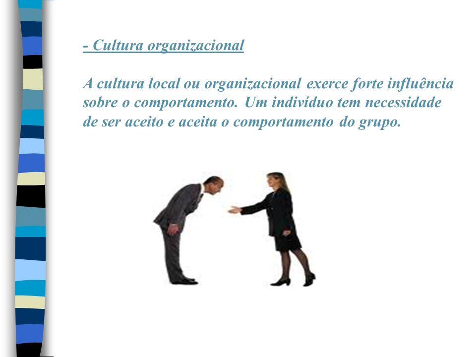 - Cultura organizacional