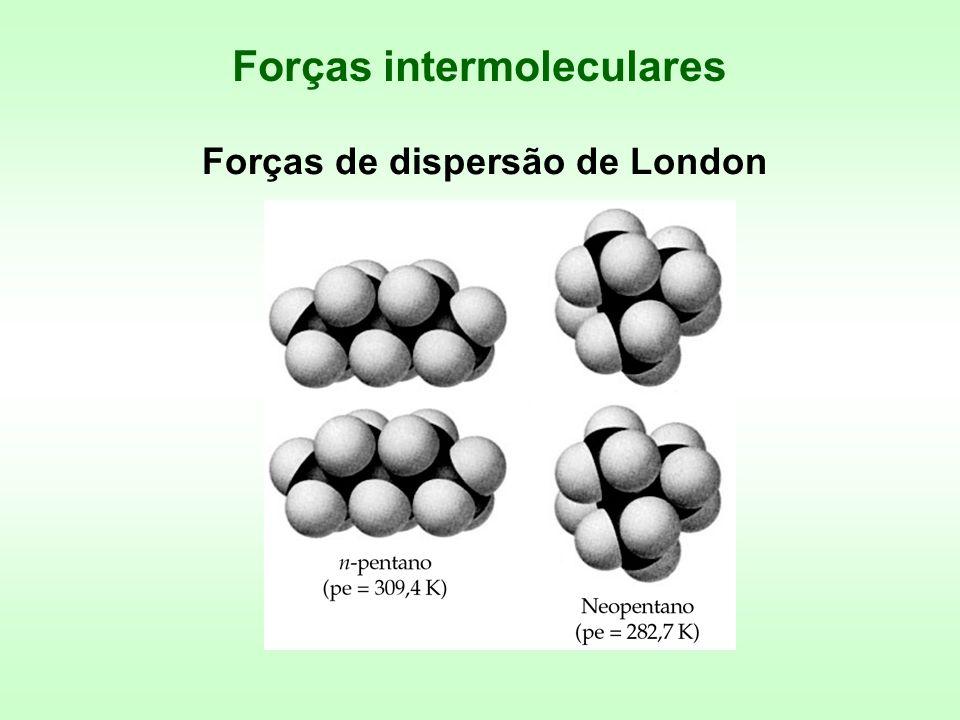 Forças intermoleculares Forças de dispersão de London